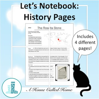 Let's Notebook: History Pages