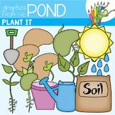 Plant It Clip Art Graphics for Teaching Color & Line Art
