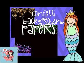 Let's Party! Confetti Bokeh Background Paper