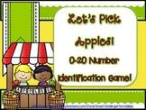 Let's Pick Apples! 0-20 Number Identification Game