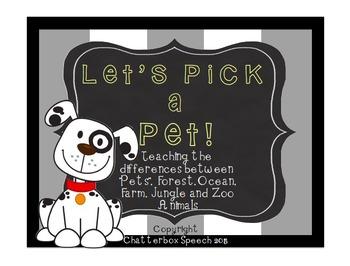 Let's Pick a Pet!