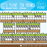 Let's Plant Ten Frames Clipart