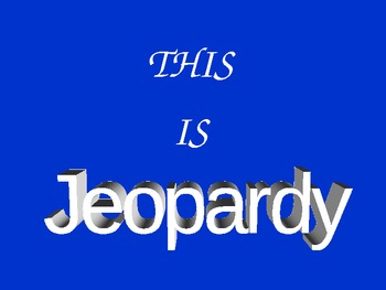 Let's Play American Revolution Jeopardy