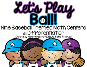 Let's Play Ball: 12 Baseball Themed Math Centers