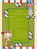Let's Play Ball, Teaching the Short i Sound