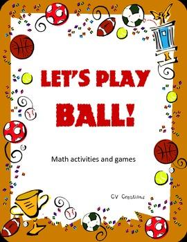 Let's Play Ball! math activities