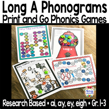 Let's Play Baseball! Long a Phonogram Game