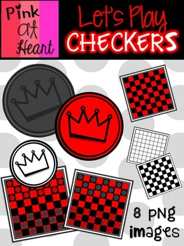 Lets Play Checkers Clip Art