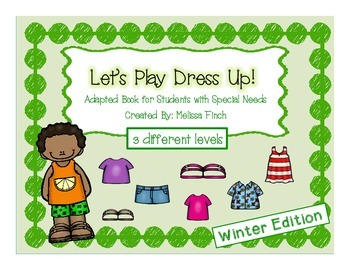 Let's Play Dress-up: Summer Edition- Adapted Book for Students with Autism