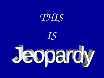 Let's Play Explorer Jeopardy