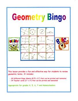 Let's Play Geometry Bingo