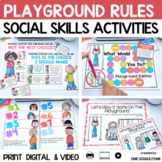 Social Story Playground Print Digital Video For Distance Learning