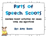 Let's Play Scoot! {Adjectives, Verbs, and Nouns}