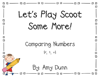 Let's Play Scoot! {Comparing Numbers to 100}