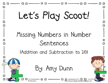 Let's Play Scoot! {Missing Numbers in + and - Number Sentences}