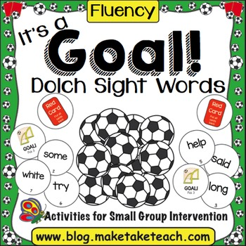 Sight Words - It's a Goal! Soccer Themed Sight Word Activity