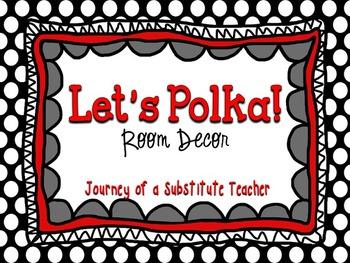 Polka Dot Room Decor Pack