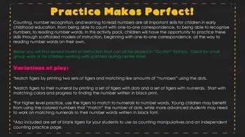 Let's Practice 1-12:  Counting, Recognizing Numbers & Reading Number Words