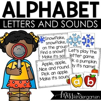 Let's Practice Alphabet Sounds {year long bundle}