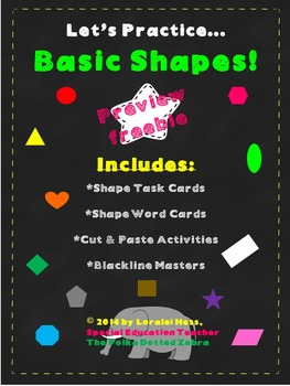 Let's Practice Basic Shapes! (preview freebie)
