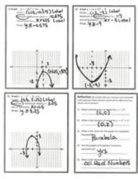 Quadratic Functions - Introduction to graphing with Technology