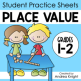 Place Value: Math Practice Worksheets for Grades 1-2 (Dist