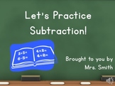 Let's Practice Subtraction Video
