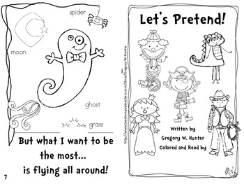 Let's Pretend! ~ An Emergent Reader to use in Centers, Workshops, Reading Groups