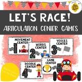 Let's Race Articulation Center Activities
