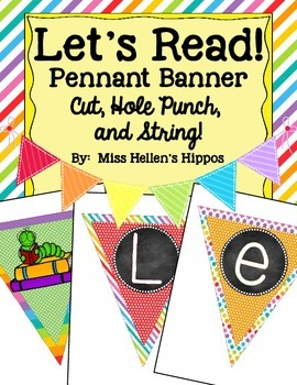 Let's Read! Pennant Banner