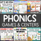 Phonics / Word Work Centers Bundle
