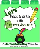 Let's Read & Write with Leprechauns - A St. Patrick's Day Freebie