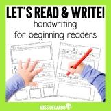 Handwriting Practice For Beginning Readers