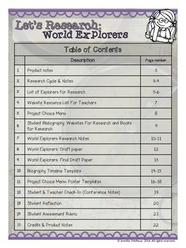 Let's Research: World Explorers