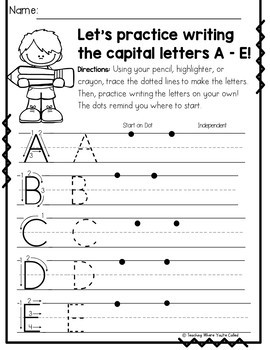 Let's Review Our Letters Complete Alphabet Bundle