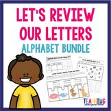 Let's Review Our Letters Complete Alphabet Bundle