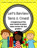 Let's Review Tens and Ones! {A Beginning of the Year Review for 2nd Graders}
