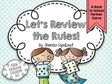 Review the Rules Partner Game {Editable}