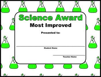 Let's Reward: Science Awards