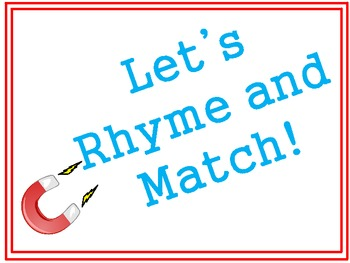 Let's Rhyme and Match!