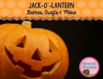Halloween Speech Therapy {Games Crafts Lesson Plans for Speech Therapy}