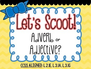 Let's Scoot! LA Task Card Set {CCSS Aligned for 1st, 2nd & 3rd