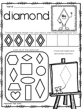 Let's 'Shape' Up! {Shape Worksheets}