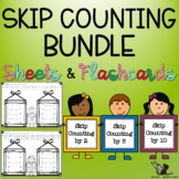 Skip Count! Bundle - Flashcards and Worksheets