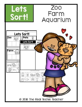 Lets Sort! Aquarium, Zoo, Farm Animals
