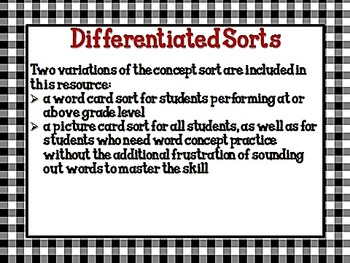 Let's Sort It Out!  Home or School? CCSS L.1.5a
