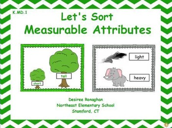 Let's Sort Measurable Attributes: An Activeboard Math Center Activity (K.MD.1)