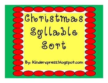 Let's Sort Syllables