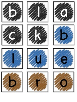 Let's Spell! Color Words
