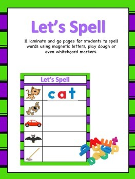 Let's Spell - Early Childhood Spelling Mats